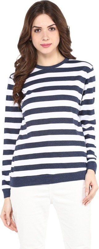 Pannkh Full Sleeve Striped Women's Sweatshirt