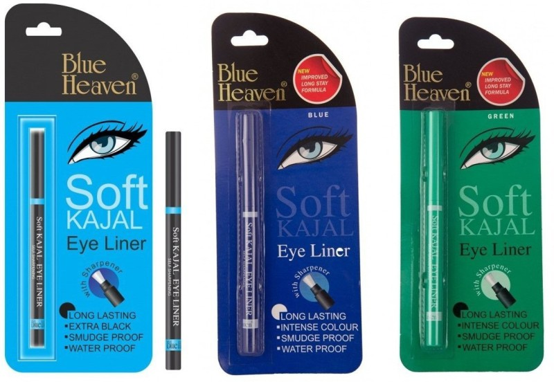 Blue Heaven multi color Soft Kajal 10 g(Black)