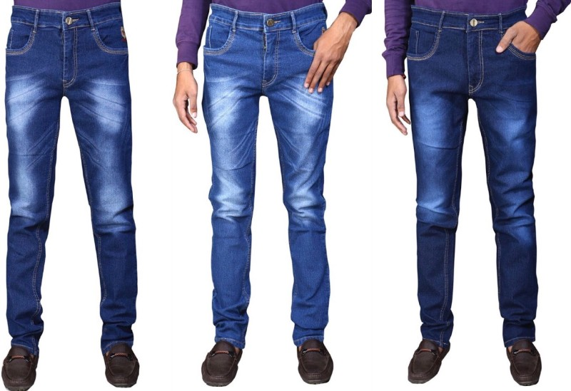 Ragzo Slim Men Multicolor Jeans(Pack of 3)