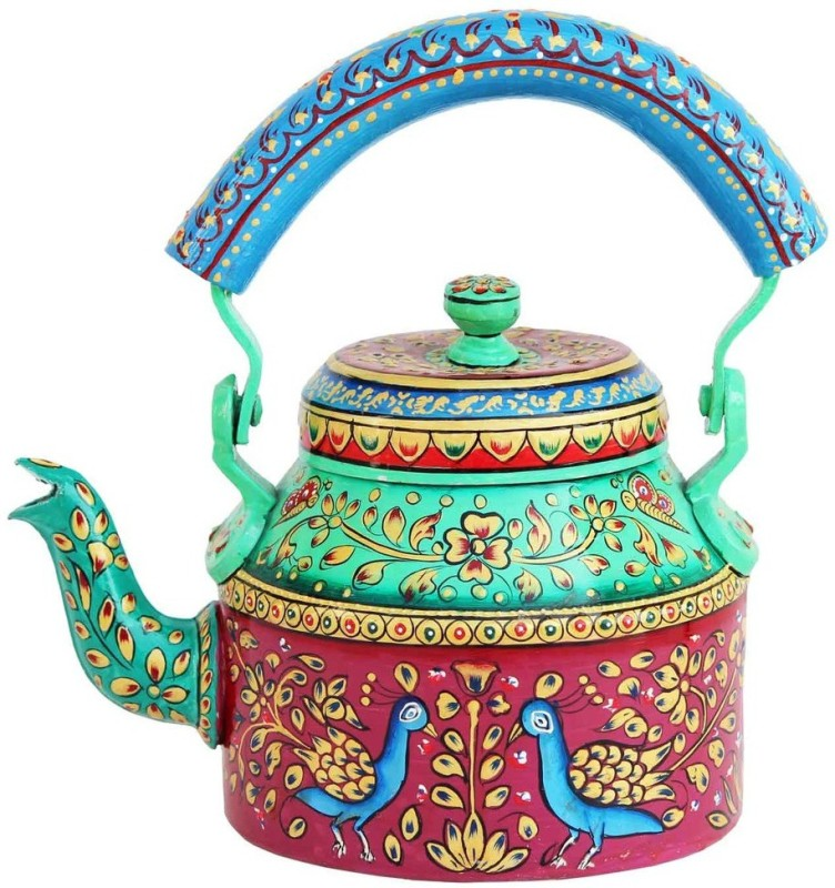 Craft Junction HnadPainted Traditional Tea Kettle Kettle Jug(1 L)