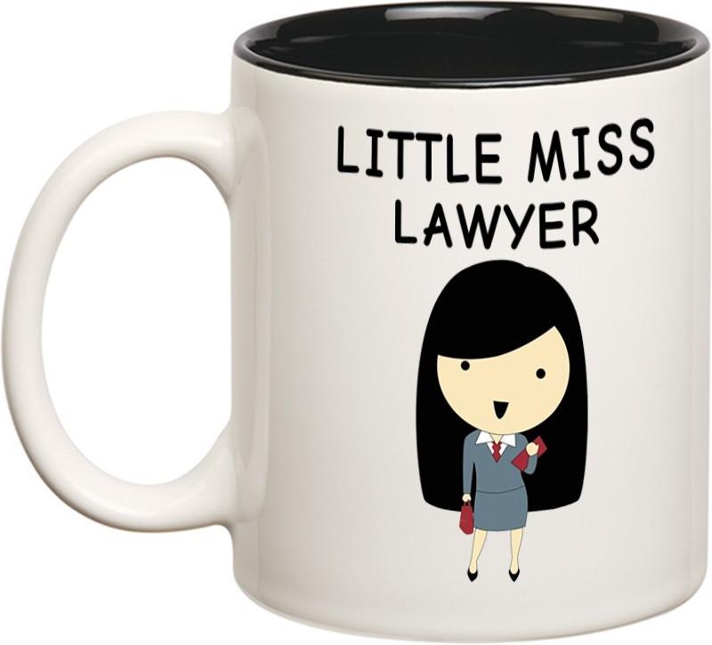 Chanakya Little Miss Lawyer Inner Black mug Ceramic Mug(350 ml)