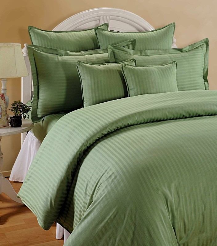 TRANCE HOME LINEN King Cotton Duvet Cover(Green)