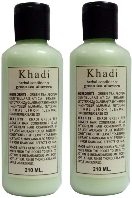Khadi Herbal Green Tea Aloe Vera Hair Conditioner (Twin Pack)(420 ml)