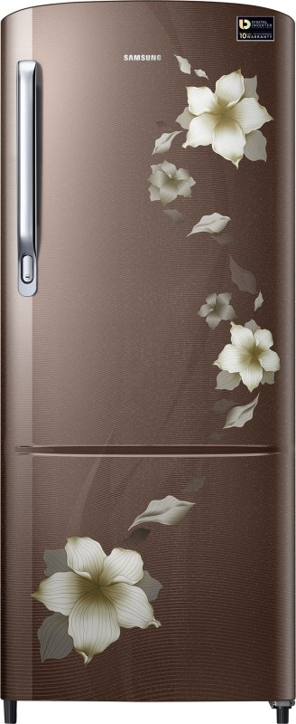 Samsung 192 L Direct Cool Single Door Refrigerator(Star Flower brown,...