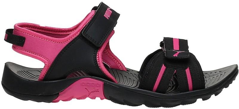 Puma Women Puma Black-Fuchsia Purple Sports Sandal