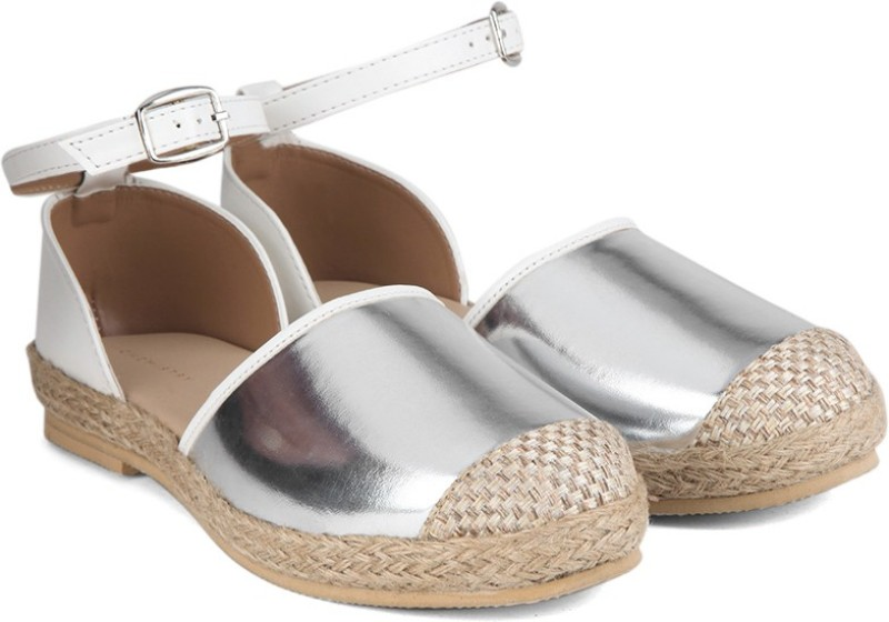 Chemistry Ankle Strap Espadrilles For Women(Silver)