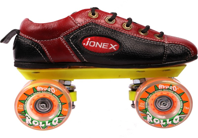 JJ Jonex SUPERIOR QUALITY SHOE Quad Roller Skates - Size 11 UK(Black, Red)