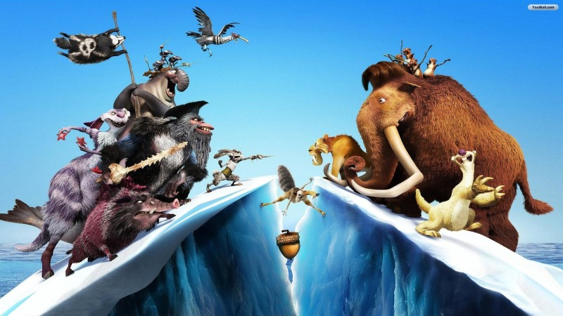 BeLucky -ice-movies-squirrels-rappers-scrat-thumbnails-cover Wall Poster Paper Print(12 inch X 18 inch, Rolled)