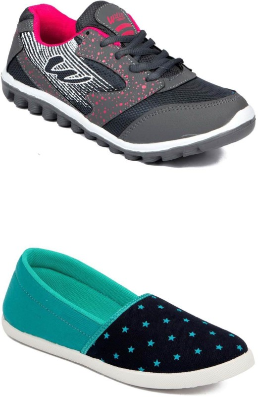 Asian Casuals For Women(Grey, Pink)