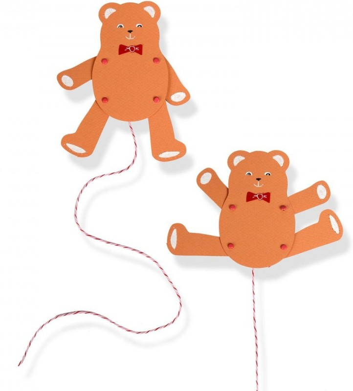 SIZZIX Bigz Die - Jumping Jack, Teddy Bear A11133 toy Stencil(Pack of 1, jumping, teddybear)
