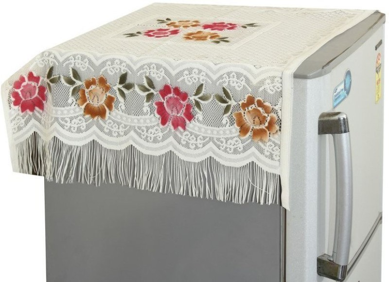 Yellow Weaves Refrigerator Cover(MULTICOLOR)