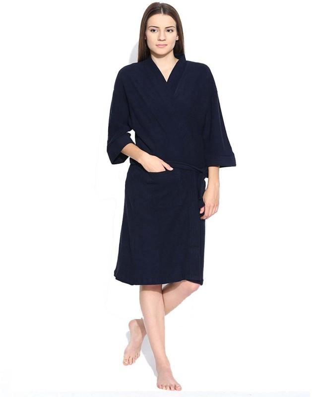 elevanto Blue Free Size Bath Robe(bathrobe, For: Women, Blue)