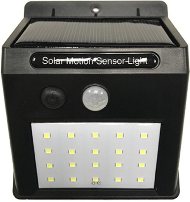 varna crafts Lampees 20 LED Super Bright Solar Light weatherproof Outdoor Garden Motion Activated Solar Power Light Solar Lights(Black)