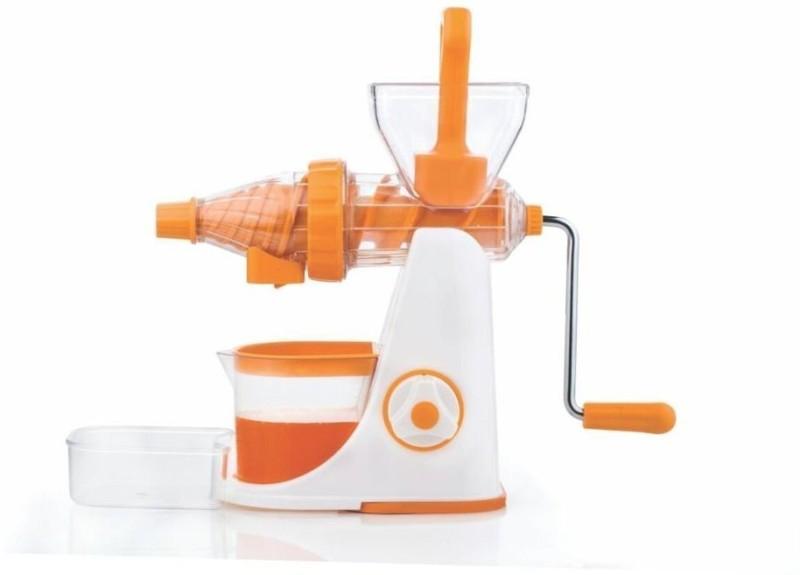 Floraware Orange Colour - Better Performance - with Waste Collector - Advance Fruit & Vegetable Plastic Hand Juicer(Orange)