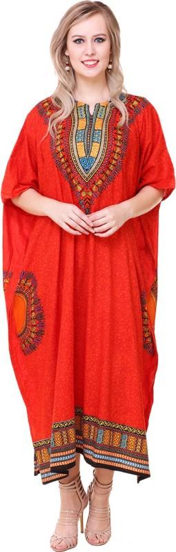 BuyNewTrend Printed Cotton Rayon Women's Kaftan
