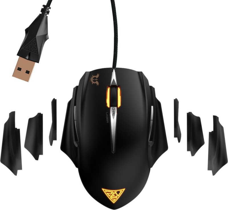 Gamdias Erebos Extension Wired Laser Gaming Mouse(USB, Black)