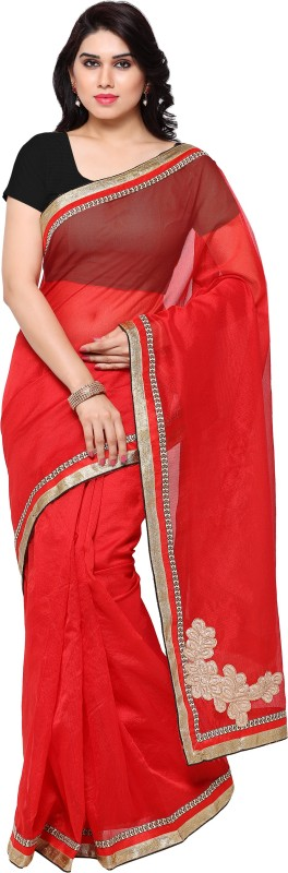 sarngin boutique Self Design Fashion Kota Cotton Saree(Red)