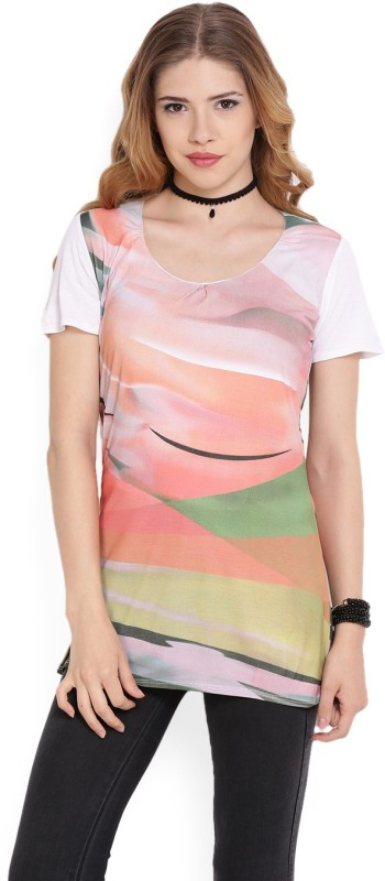 Jealous Casual Short Sleeve Printed Women's Multicolor Top
