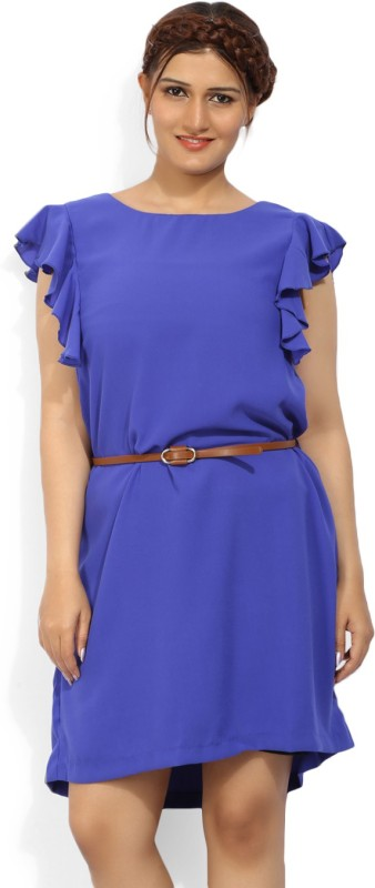 Allen Solly Womens Shift Blue Dress
