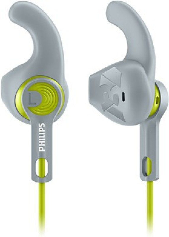 Philips SHQ1300LF/00 Wired Headset with Mic(Green and Grey, In the Ear)