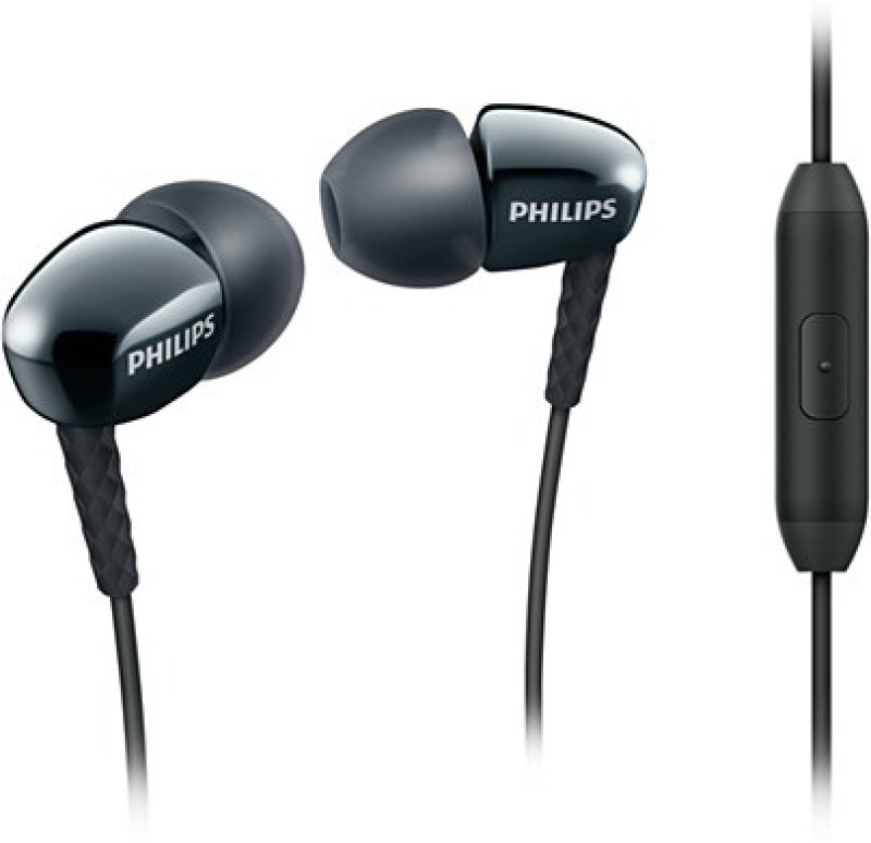Philips SHE3905BK/00 Wired Headset with Mic(Black, In the Ear)