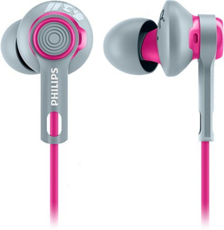 Philips SHQ2300PK/00 Wired Headset with Mic(Pink and Grey, In the Ear)