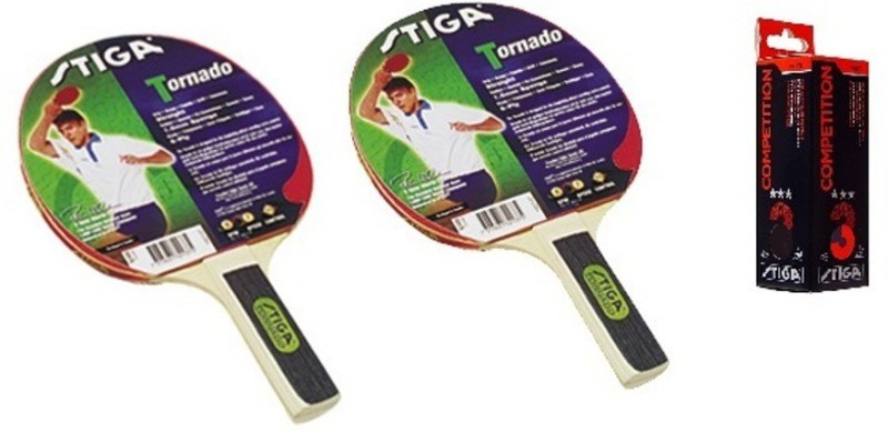 Stiga Torando Table Tennis Racket and Competition Balls- TT Kit Multicolor Table Tennis Racquet(240 g)