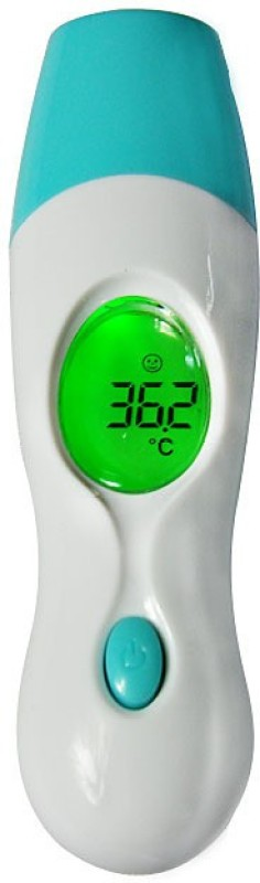 Technomart Multi-purpose Baby Adult Digital 4 in 1 Forehead Ear Infrared IR Multi-Function Temperature Measurement Bath Thermometer(White, Blue)