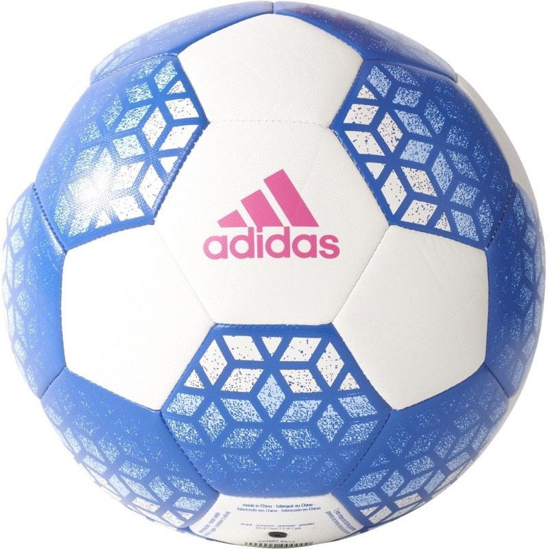 Adidas Ace Glid Football - Size: 5(Pack of 1, White, Blue, Shock Pink)