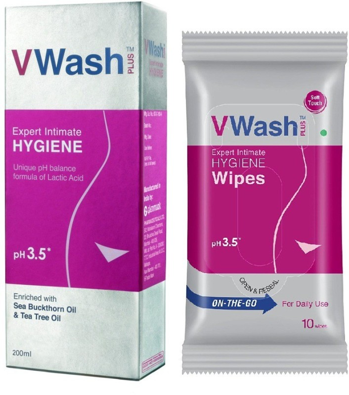 V Wash Intimate Hygiene and wipes 10s(Set of 2)