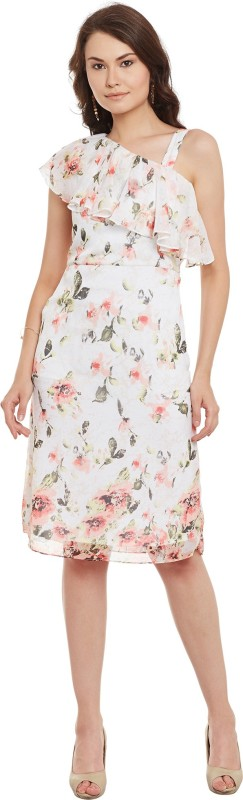 Athena Women's Fit and Flare Pink, Multicolor Dress