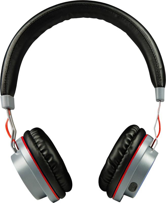 boat Rockerz 390 bluetooth Headphones(Black, Red, On the Ear)