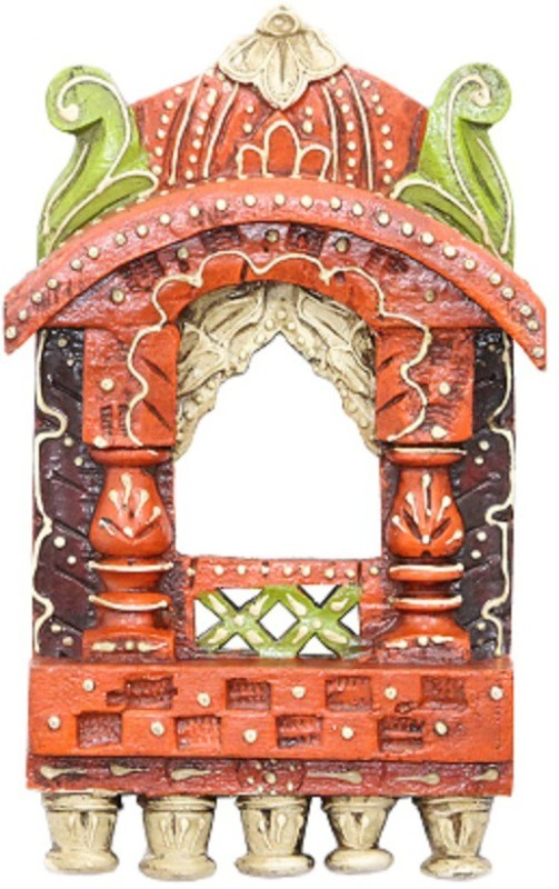Apkamart Handicraft Wooden Jharokhas - Wall Hanging Frame for Home Decor and Gifts Wood Jharokha(26 cm x 14 cm Handcrafted)