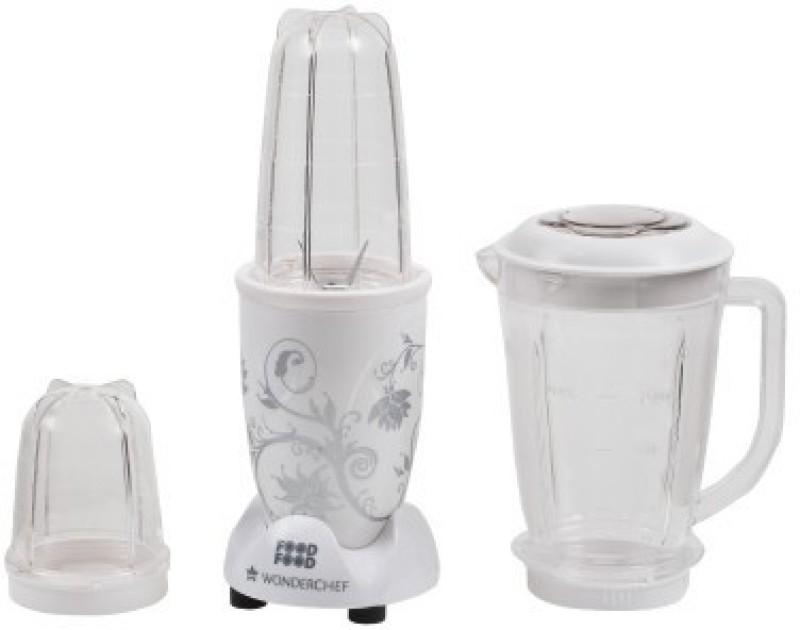 Wonderchef nutriblend with jar 400 W Juicer Mixer Grinder(White, 3 Jars)