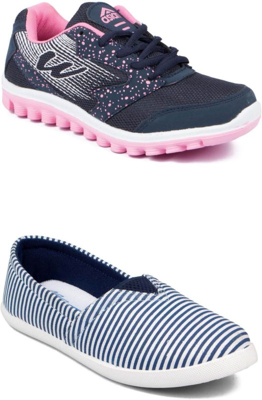 Asian Casuals For Women(Navy, Pink)