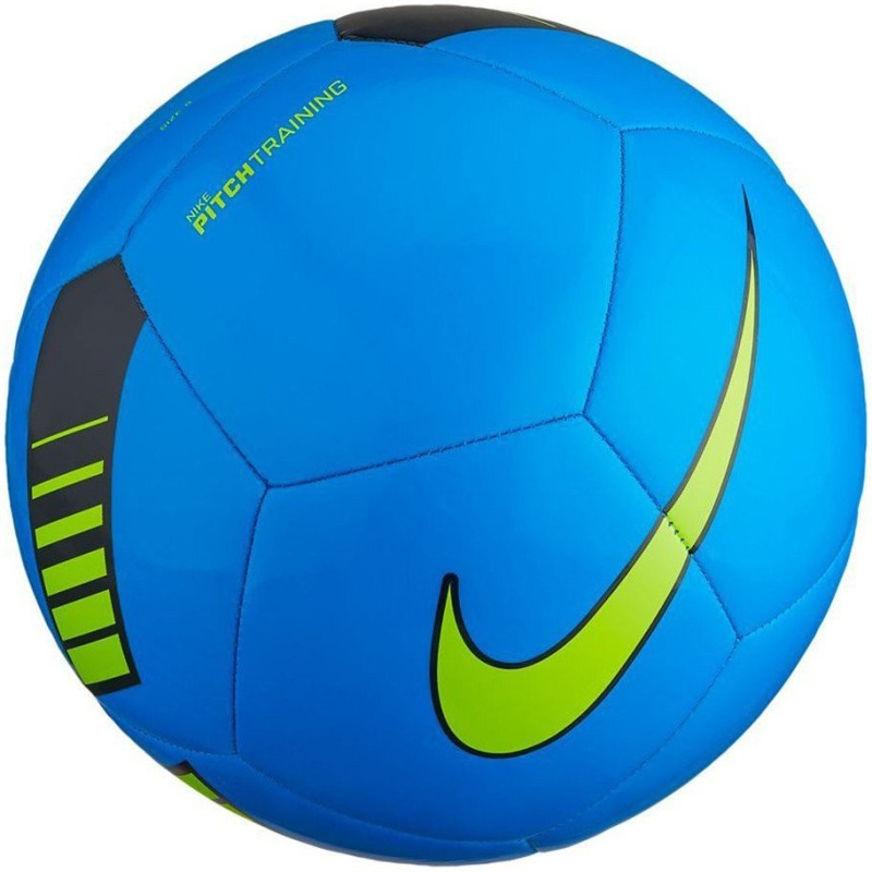Nike Pitch Training Football - Size: 5(Pack of 1, Blue, Black, Volt)