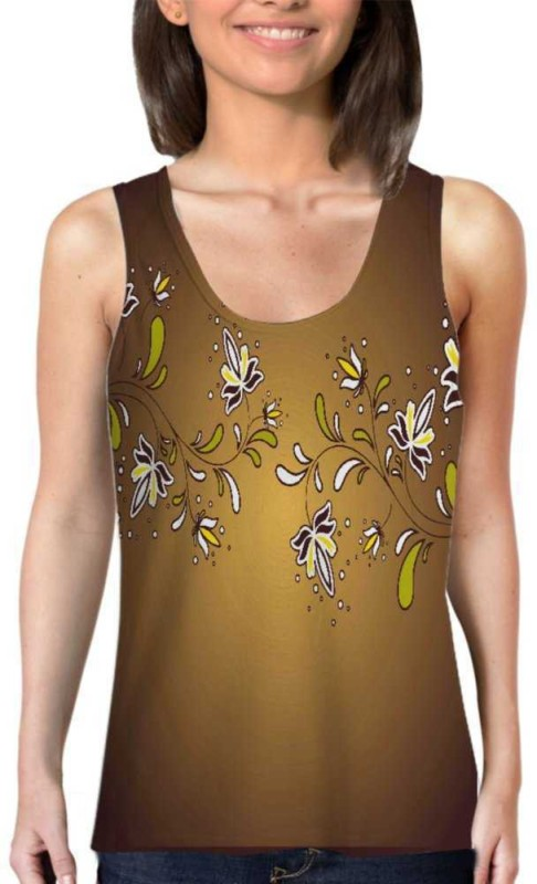 Snoogg Casual Sleeveless Printed Women's Multicolor Top