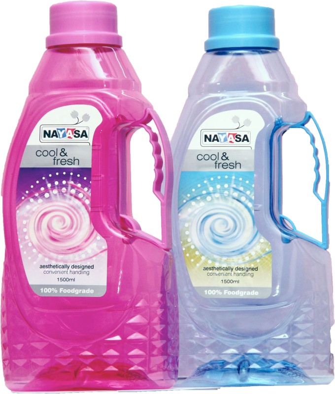 Nayasa FONTANA 1500 ml Bottle(Pack of 2, Multicolor)