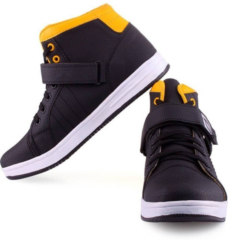 Clerk Boys Velcro Casual Boots(Yellow)
