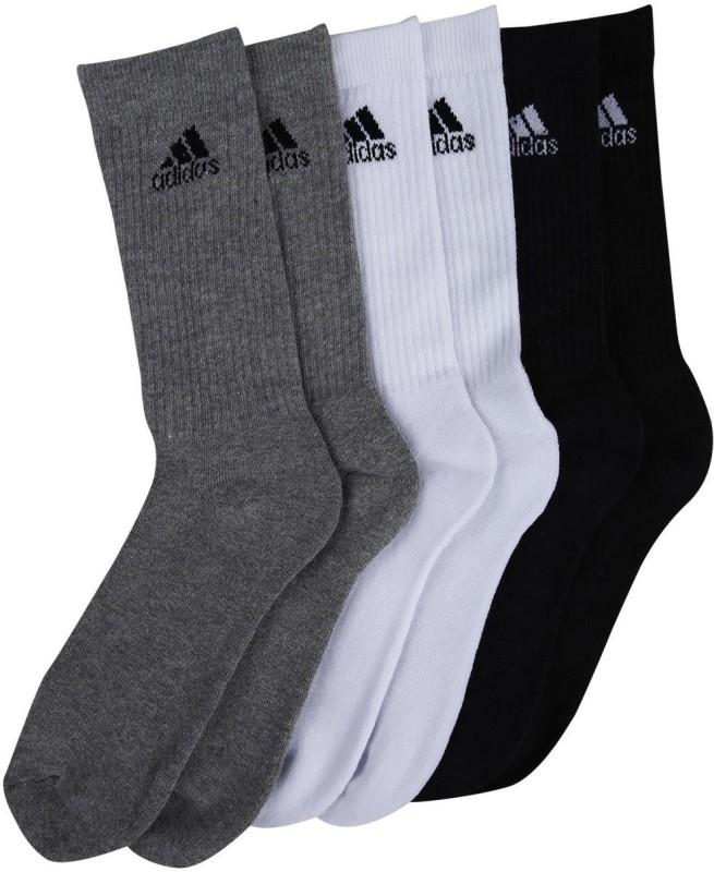 Adidas Mens Crew Length Socks(Pack of 3)