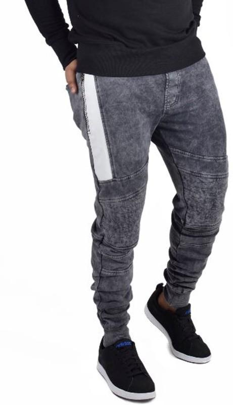 Fugazee Solid Men's Grey Track Pants