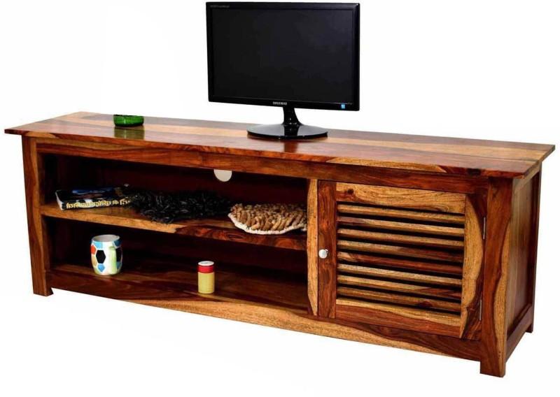 TimberTaste Kaviat Sheesham Solid Wood TV Entertainment Unit(Finish Color - Natural Teak)