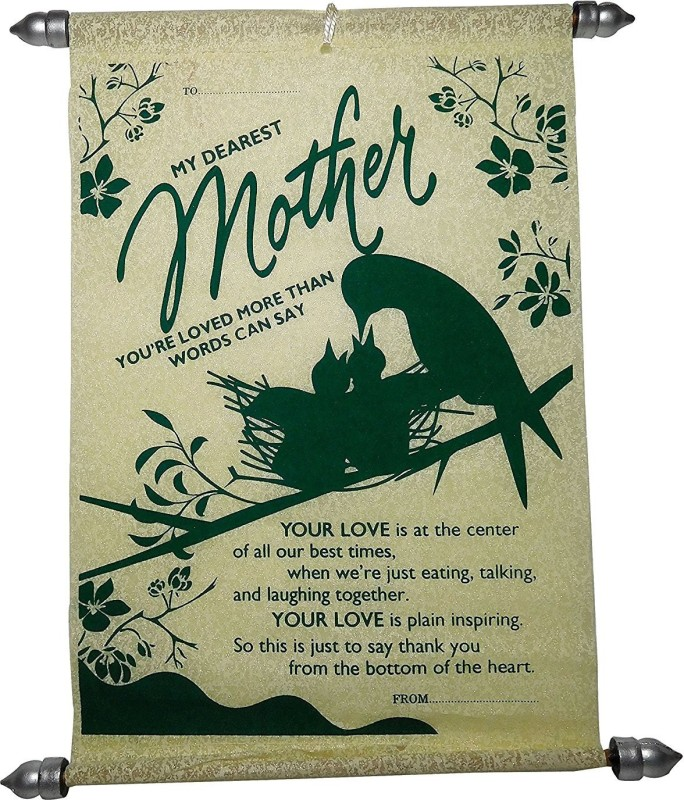 Saugat Traders Mom Scroll Card For Mother's Day Greeting Card(Green, Pack of 1)