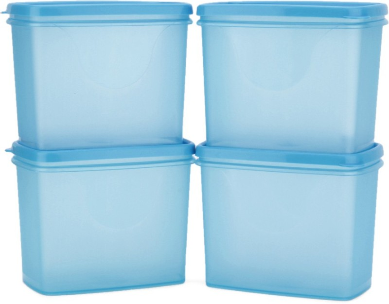 All Time Sleek - 850 ml Plastic Multi-purpose Storage Container(Pack of 4, Blue)