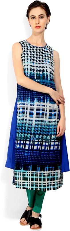 Biba Womens A-line Blue Dress