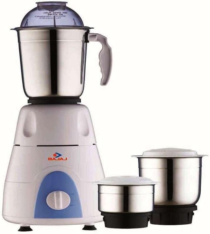 BAJAJ 410176 500 W Mixer Grinder(Black, White, 3 Jars)