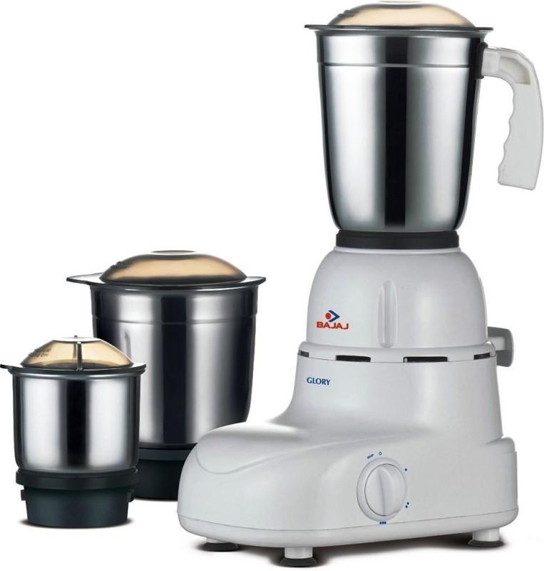 BAJAJ 410167 500 W Mixer Grinder(Black, White, 3 Jars)