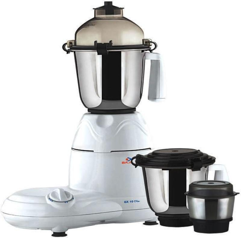 BAJAJ 410038 600 W Mixer Grinder(Black, White, 3 Jars)