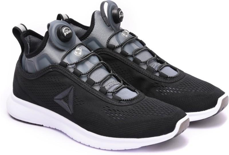 REEBOK PUMP PLUS TECH Running Shoes For Women(Black, White)