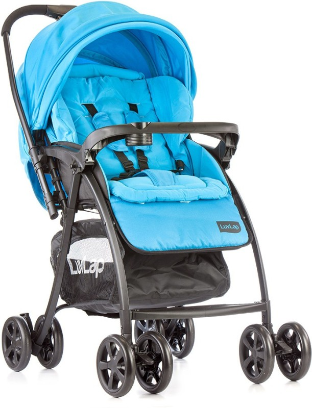 LuvLap Grand baby Stroller - Sea Green Stroller(3, Blue, Black)